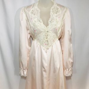 Vintage Nightgown and Matching Robe Set